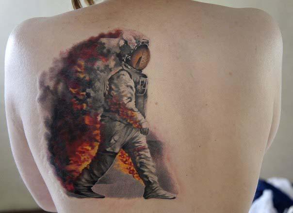 Горящий пожарный