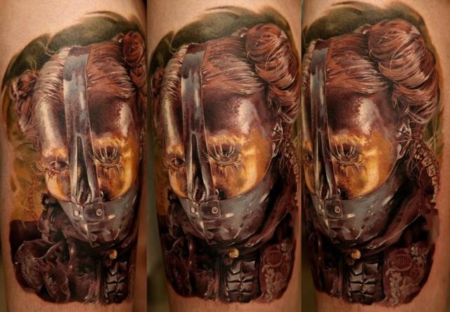 креативная татуировка-портрет