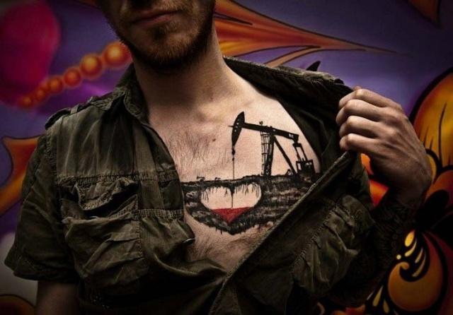 креативная татуировка в виде сердца