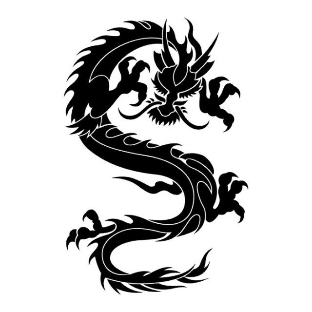 Эскизы татуировок: дракон (31)