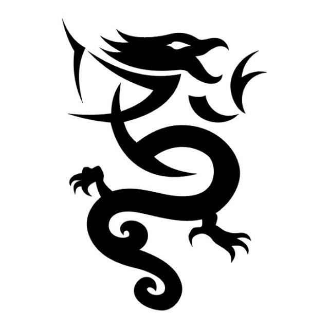 Эскизы татуировок: дракон (22)