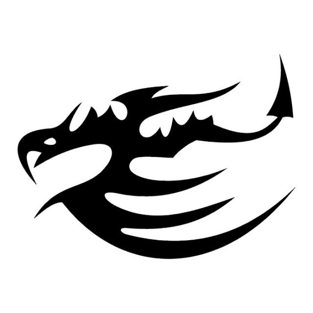 Эскизы татуировок: дракон (21)