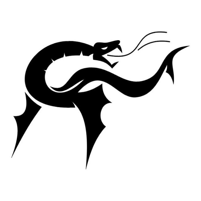 Эскизы татуировок: дракон (20)