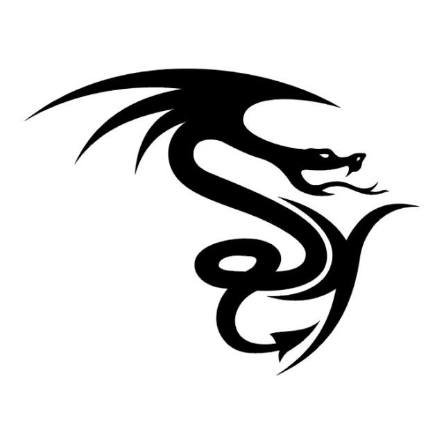 Эскизы татуировок: дракон (19)