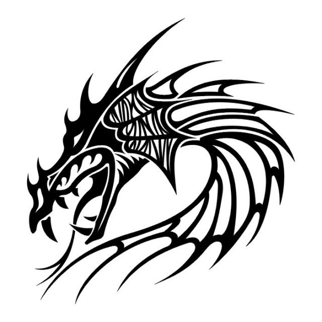 Эскизы татуировок: дракон (18)