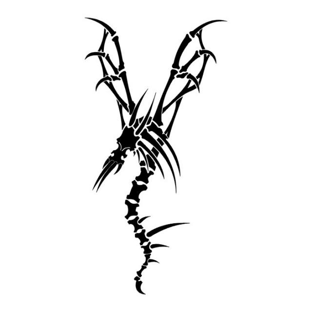 Эскизы татуировок: дракон (17)