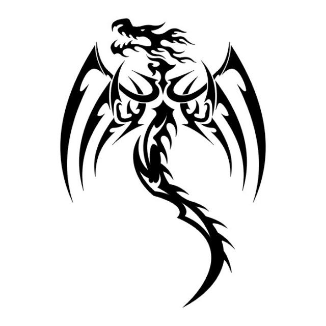 Эскизы татуировок: дракон (16)
