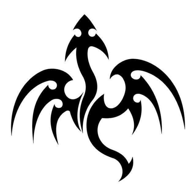Эскизы татуировок: дракон (13)