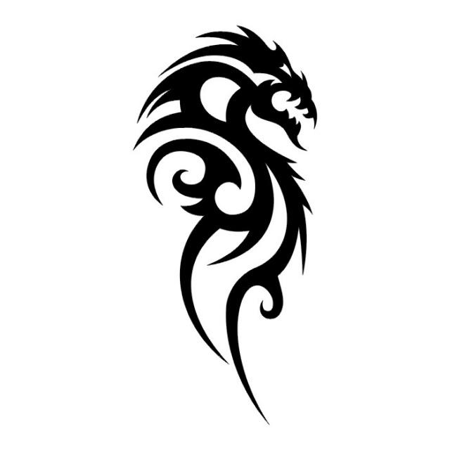 Эскизы татуировок: дракон (30)