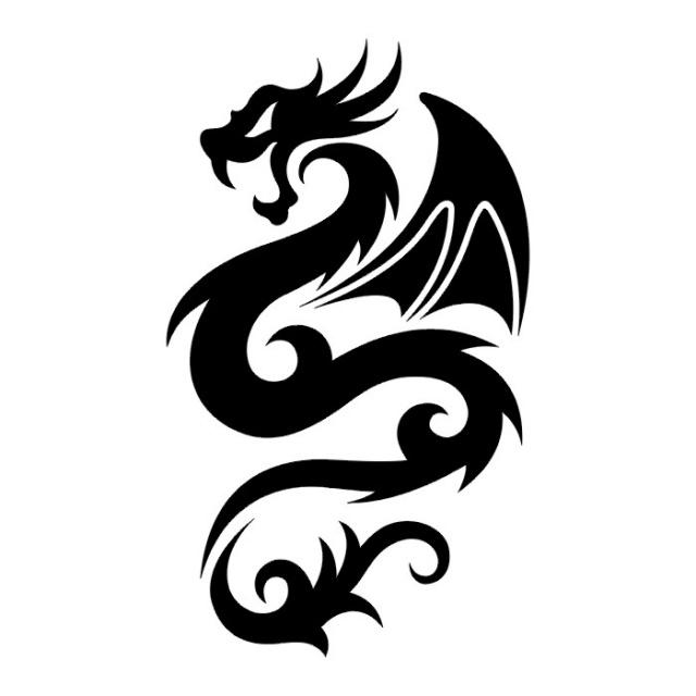 Эскизы татуировок: дракон (12)