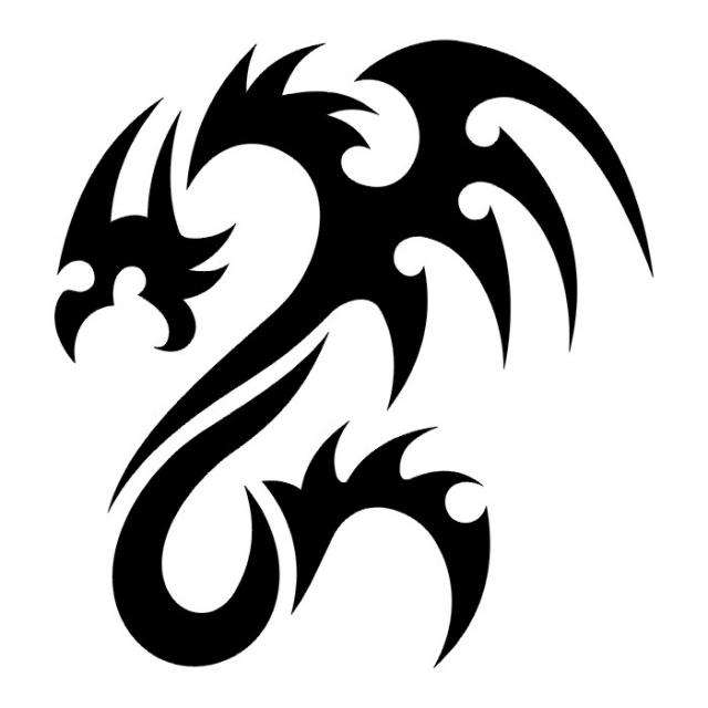 Эскизы татуировок: дракон (10)