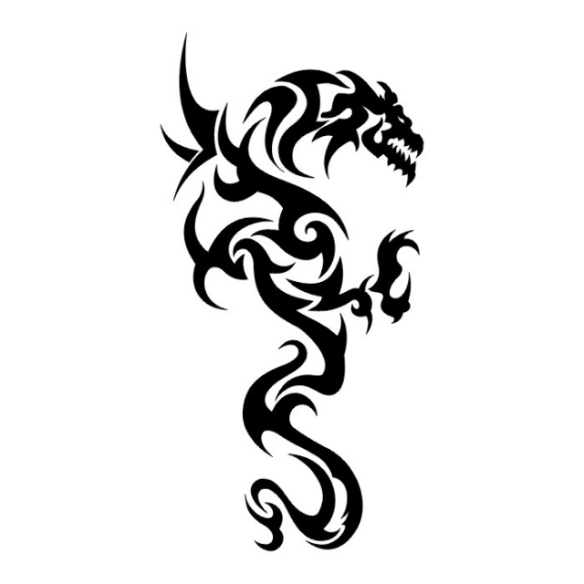 Эскизы татуировок: дракон (9)