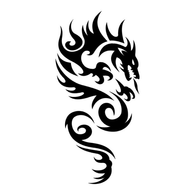 Эскизы татуировок: дракон (8)