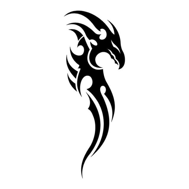Эскизы татуировок: дракон (27)