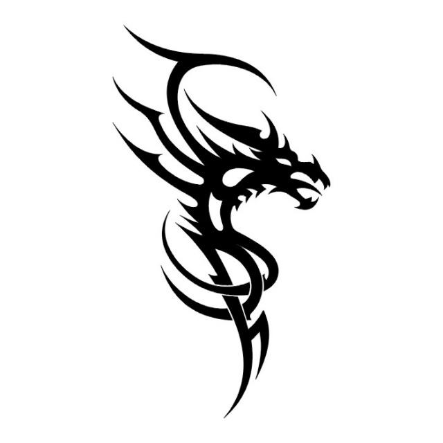 Эскизы татуировок: дракон (26)