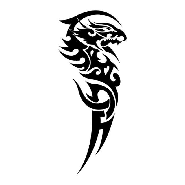 Эскизы татуировок: дракон (25)