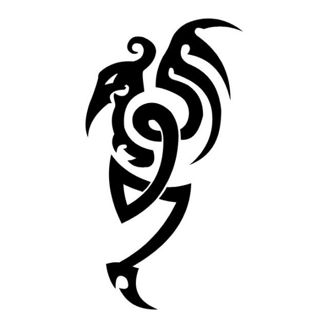 Эскизы татуировок: дракон (24)
