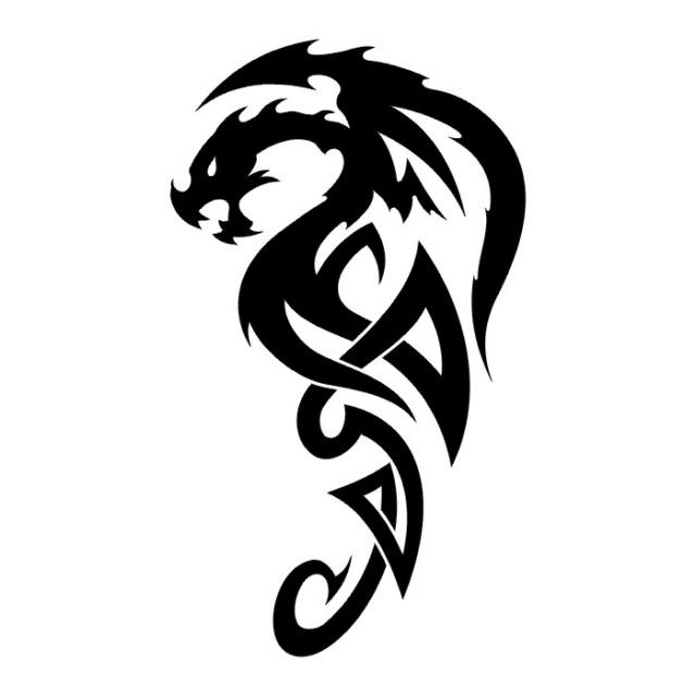 Эскизы татуировок: дракон (23)