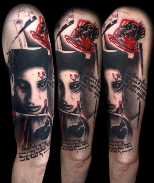 татуировки-женские портреты (5)