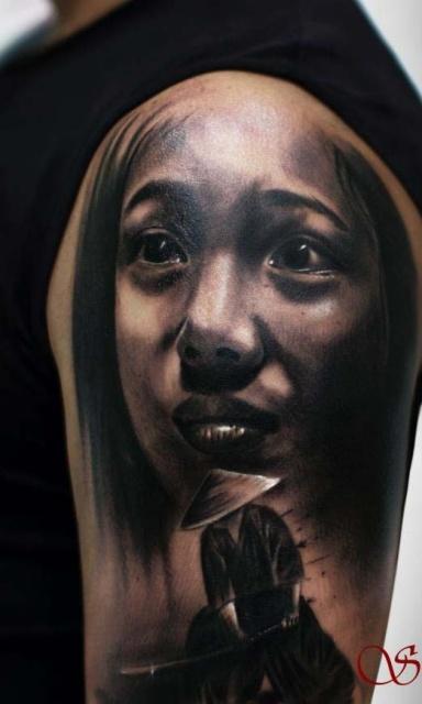 татуировки-женские портреты (3)