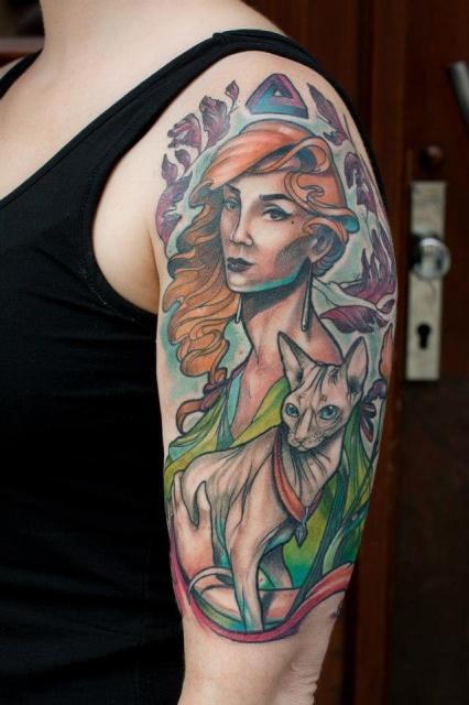 татуировки-женские портреты (12)
