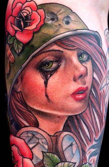 татуировки-женские портреты (10)