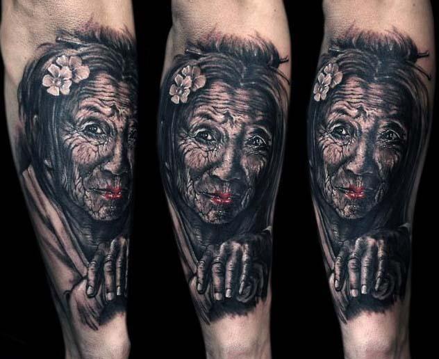 татуировки-женские портреты (7)
