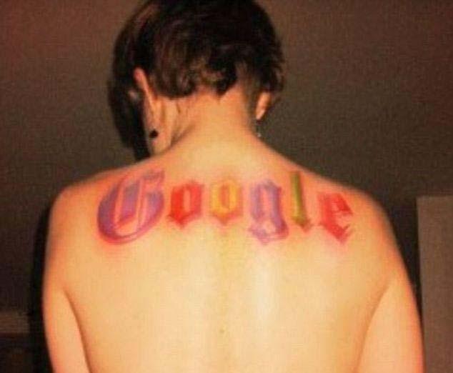 Татушки Google на спине