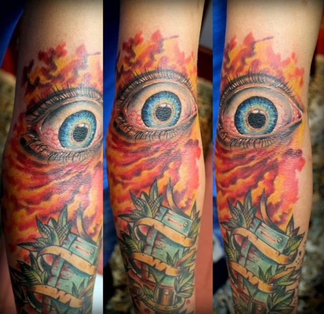Фото татуировок глаза на руках