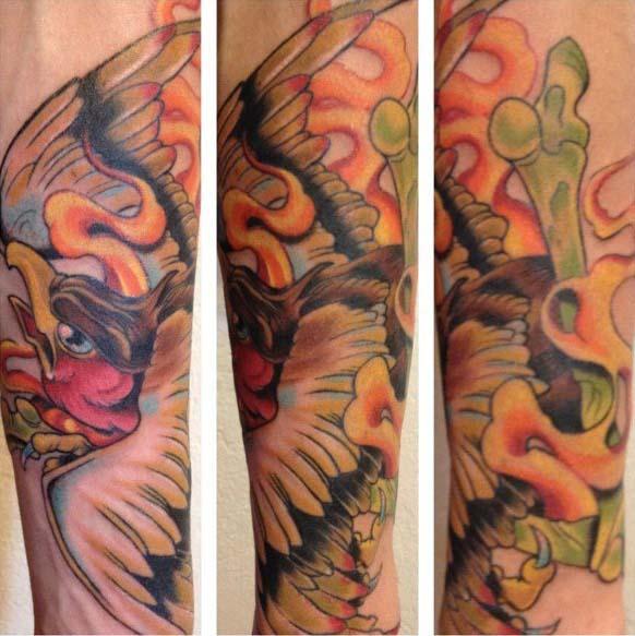 Фото татуировок птицы