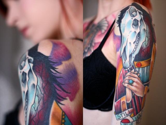 Фото татуировки лошади