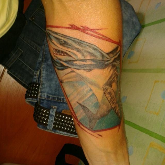 Фото татуировки акулы на руке