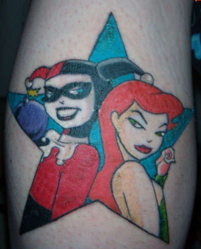 татуировки харли квин (harley quinn) (2)