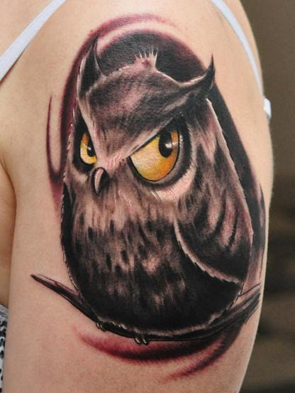 татуировка совы на руке (8)