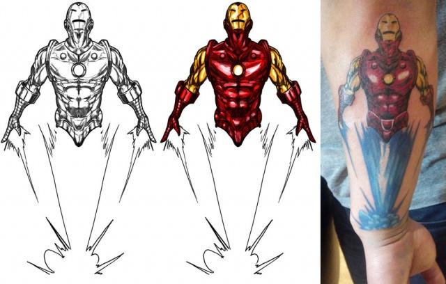 Татуировки: железный человек (5)