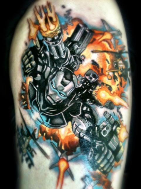 Татуировки: железный человек (3)