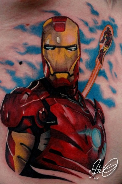 Татуировки: железный человек (26)