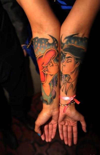 На руках фото татуировок парные