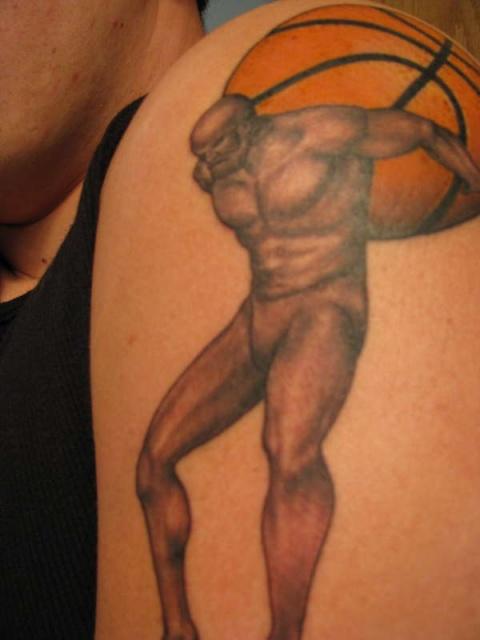 Татуировки: баскетбол (2)