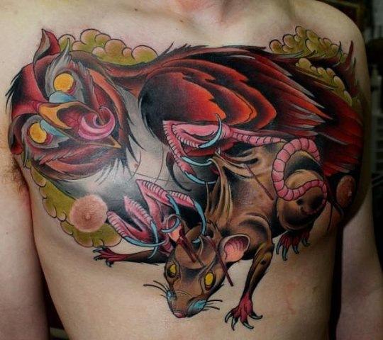 красивые татуировки на груди (1)