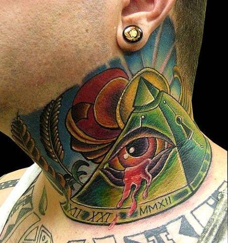 красивые татуировки на шее (7)
