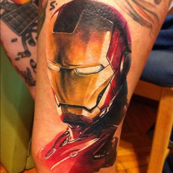 Татуировка Железного человека (iron man)