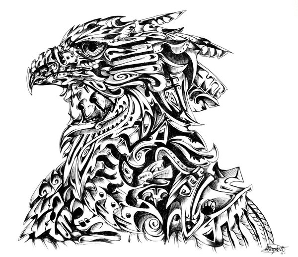 Эскизы René Campbell птица ястреб