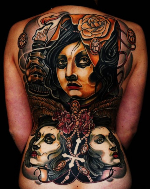 Фото татуировок на спине (2)