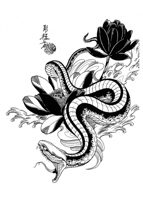 Эскизы черной змеи 2013 (6)