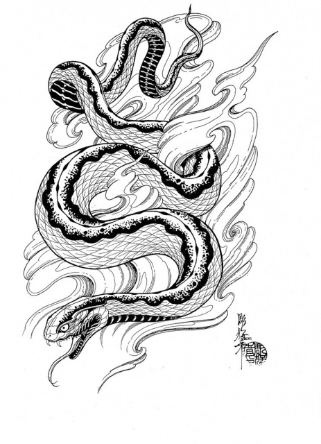 Эскизы черной змеи 2013 (4)