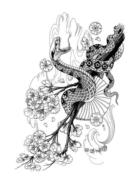 Эскизы черной змеи 2013 (3)