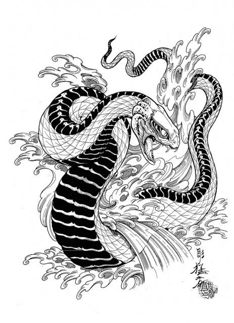 Эскизы черной змеи 2013 (8)