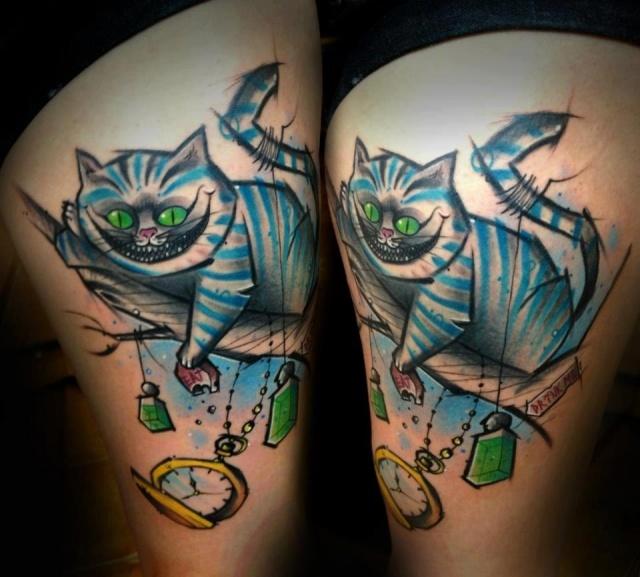 татуировка чеширского кота