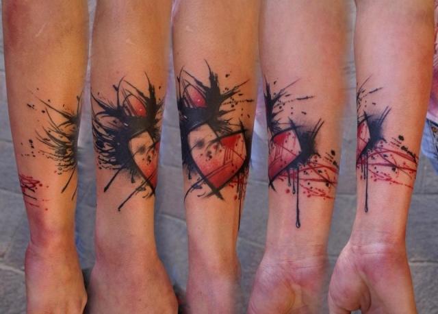 Необычайные татуировки сердца (4)